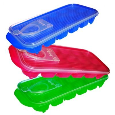Παγοθήκη πλαστική με καπάκι σε διάφορα χρώματα