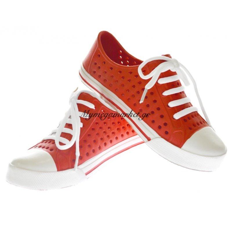 Παπούτσι θαλάσσης κλειστό γυναικείο σε κόκκινο χρώμα