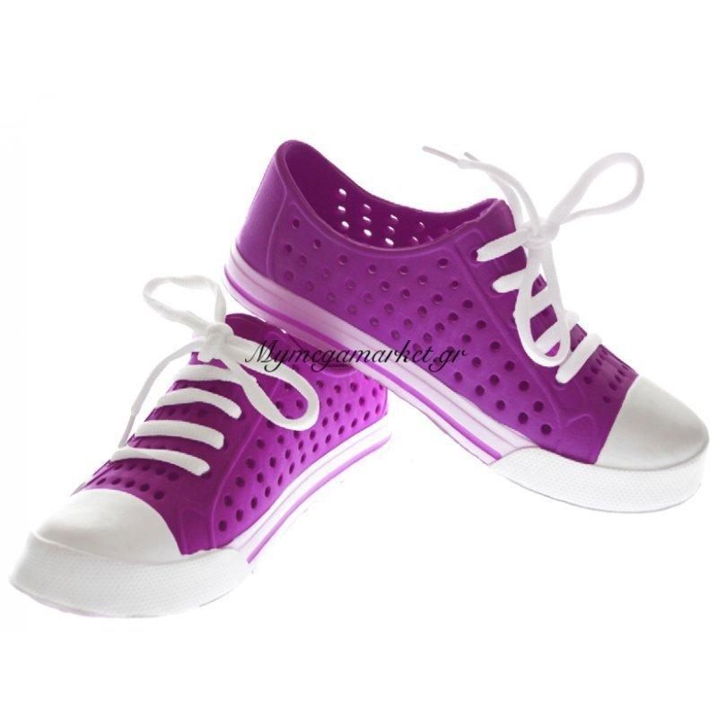 Παπούτσι θαλάσσης κλειστό γυναικείο σε μώβ χρώμα