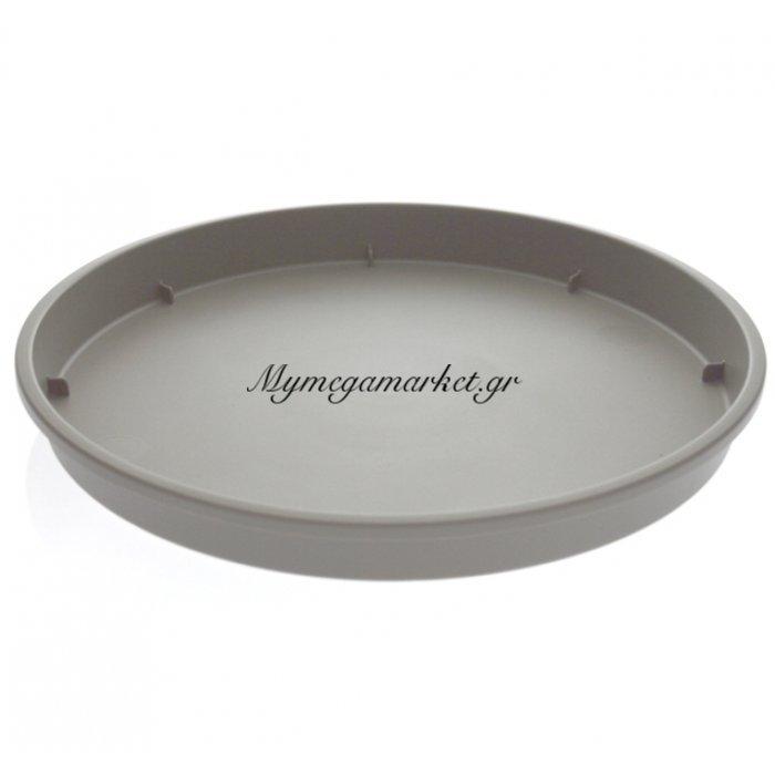 Πιάτο γλάστρας Linea χρώμα γκρί ανοιχτό σε 4 διαστάσεις | Mymegamarket.gr