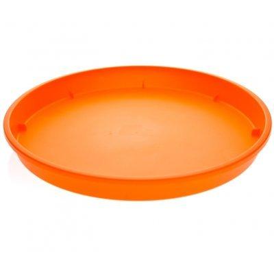 Πιάτο γλάστρας Linea χρώμα πορτοκαλί σε 4 διαστάσεις