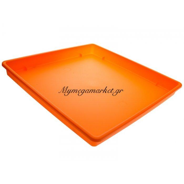 Πιάτο γλάστρας Linea τετράγωνο χρώμα πορτοκαλί σε 2 διαστάσεις