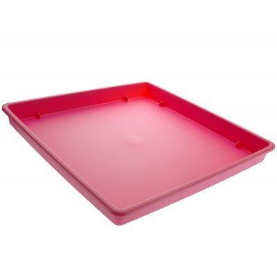 Πιάτο γλάστρας Linea τετράγωνο χρώμα τριανταφυλλί 25 x 25 cm
