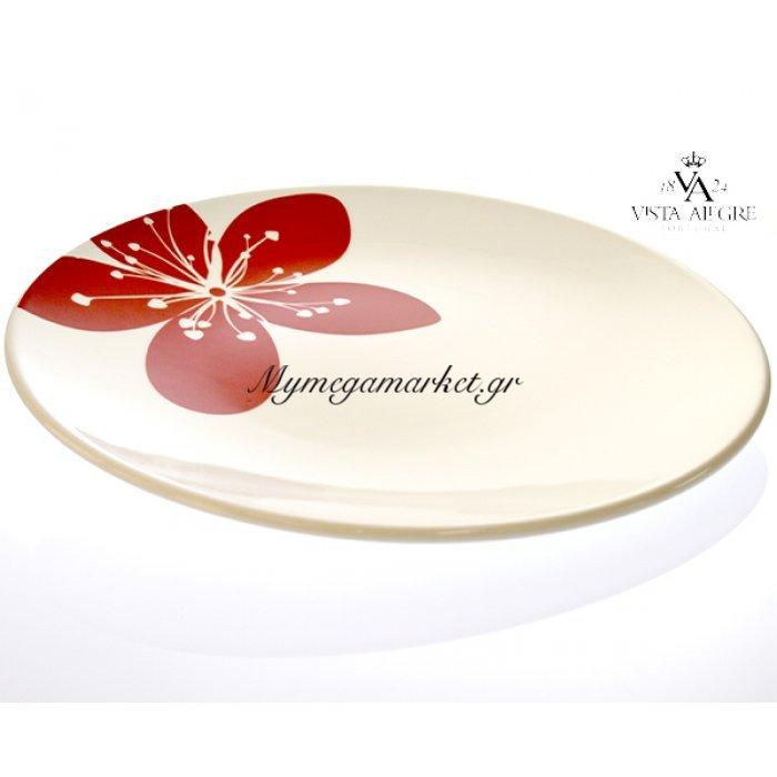 Πιάτο ρηχό Settia red-Vista alegre/τεμ. | Mymegamarket.gr