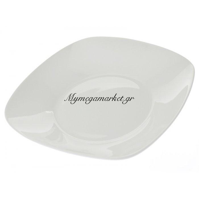 Πιάτο σούπας τετράγωνο λευκό επαγγελματικό | Mymegamarket.gr