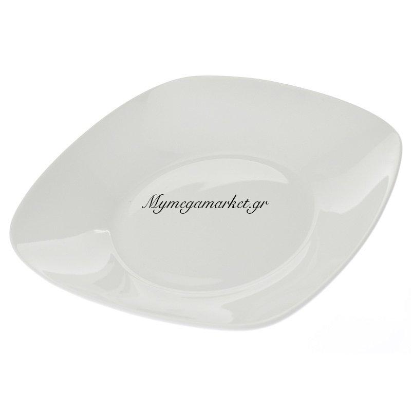 Πιάτο σούπας τετράγωνο λευκό επαγγελματικό