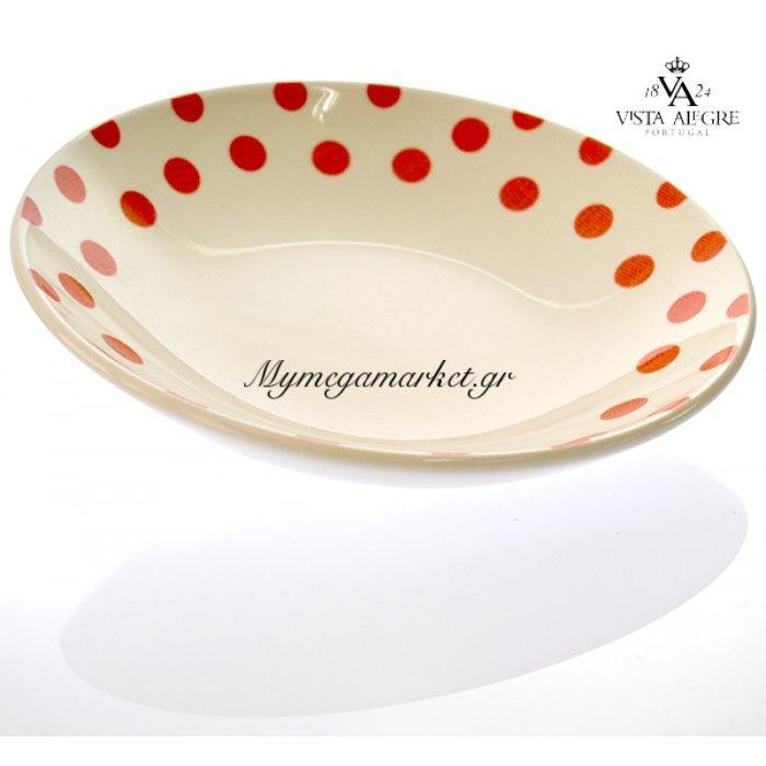 Πιάτο βαθύ Spot red-Vista alegre/τεμ. | Mymegamarket.gr