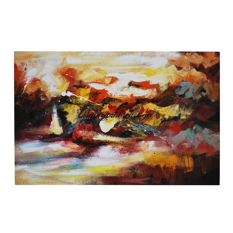 Πίνακας σε καμβά με λαδομπογιά πολύχρωμος