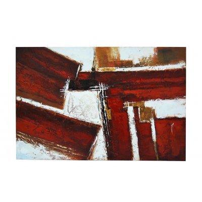 Πίνακας σε καμβά μπορντώ - εκρού