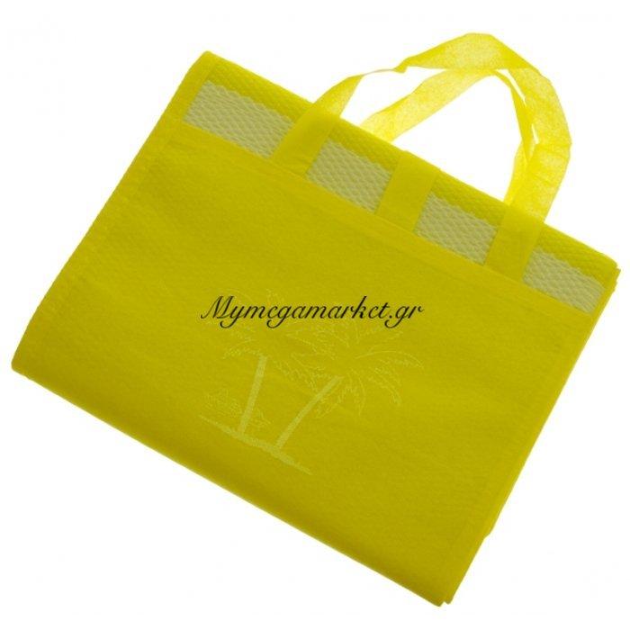Πλαστική ψάθα τσαντάκι σε κίτρινο χρώμα 90 x 180 cm | Mymegamarket.gr