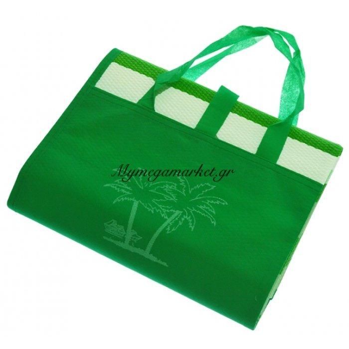 Πλαστική ψάθα τσαντάκι σε πράσινο χρώμα 90 x 180 cm | Mymegamarket.gr