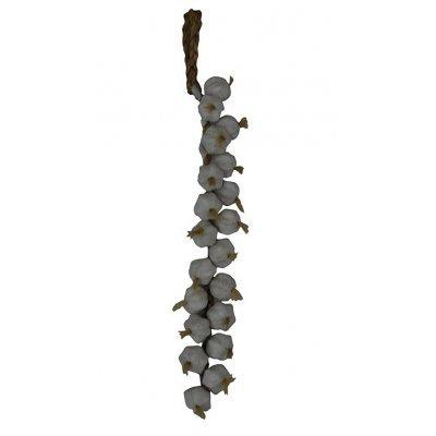 Πλεξούδα σκόρδα λευκά 20 τμχ τεχνητά για διακόσμηση