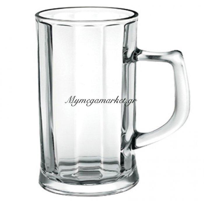 Ποτήρι μπύρας με χερούλι Borgonovo 400ml   Mymegamarket.gr