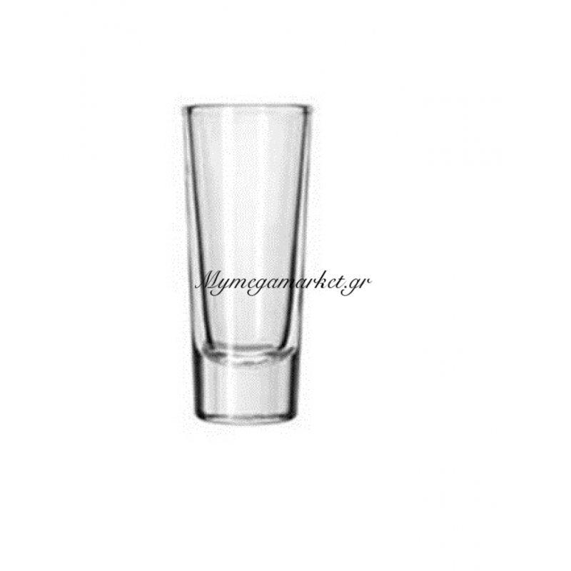 Ποτήρι σφηνάκι γυάλινο στενό