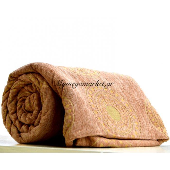 Ριχτάρι πολυεστερικό σενίλ για τριθέσιο 180 x 280 cm σε μπέζ χρώμα | Mymegamarket.gr