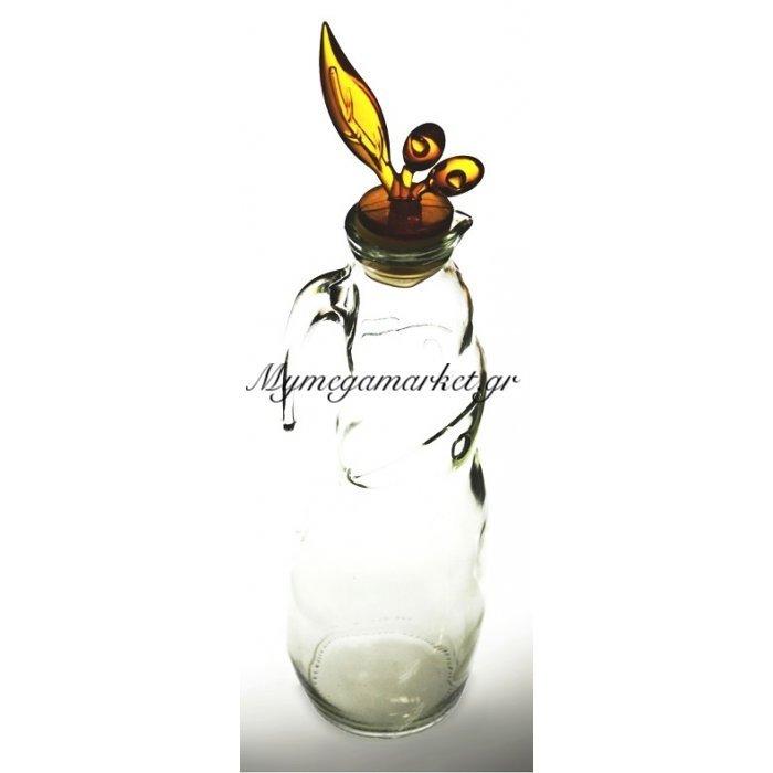 Ρoή λαδιού γυάλινη με ακρυλίκο κίτρινο καπάκι | Mymegamarket.gr