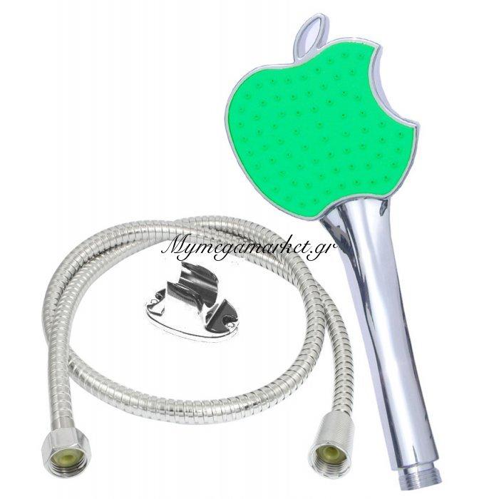 Σέτ τηλέφωνο για ντούζ με σπιράλ Apple σε πράσινο χρώμα | Mymegamarket.gr