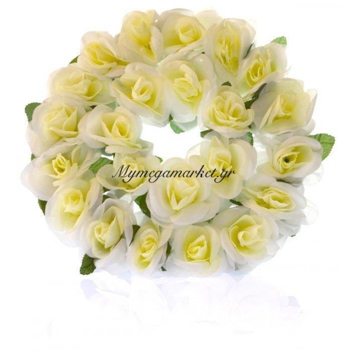 Στεφάνι με τριαντάφυλλα λευκά | Mymegamarket.gr