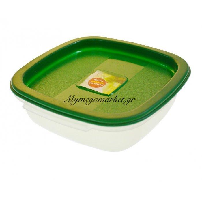 Τάπερ οικολογικό λούξ μικρό με πράσινο καπάκι | Mymegamarket.gr