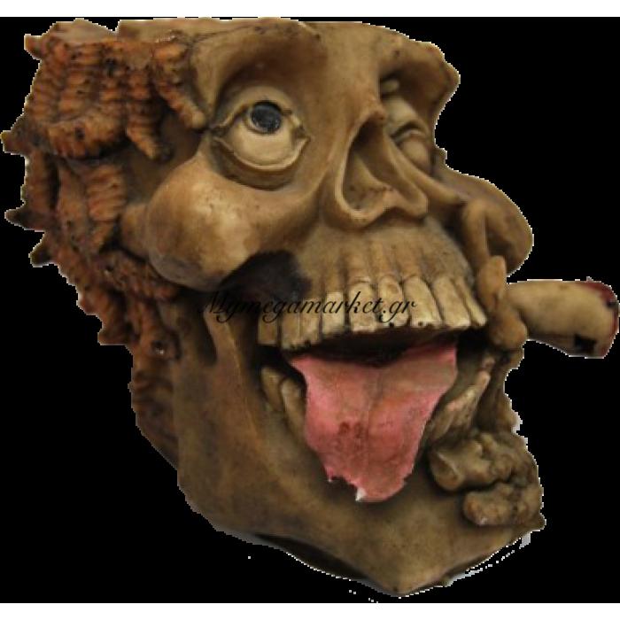 Τασάκι κεραμικό νεκροκεφαλή με γλώσσα | Mymegamarket.gr