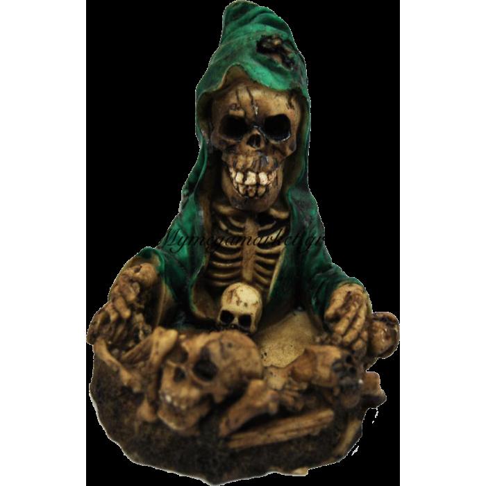 Τασάκι κεραμικό νεκροκεφαλή πράσινο | Mymegamarket.gr