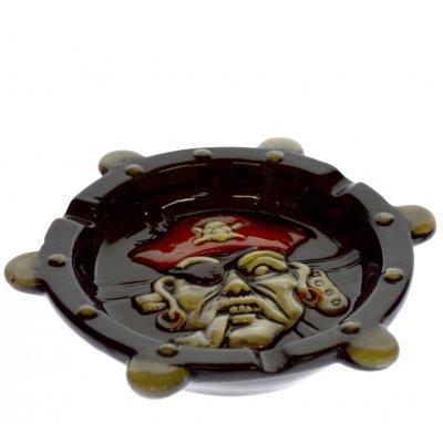 Τασάκι πορσελάνινο με πειρατή - νεκροκεφαλή