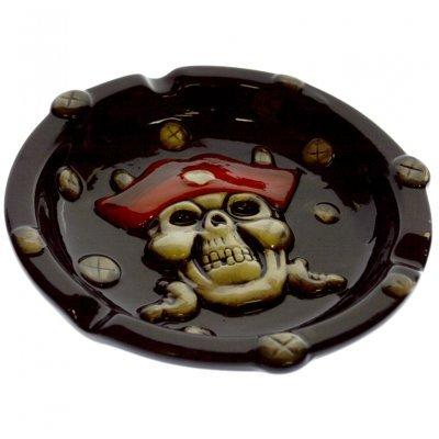 Τασάκι πορσελάνινο με σχέδιο πειρατή νεκροκεφαλή