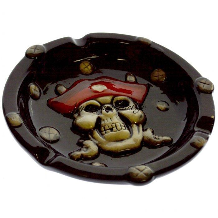 Τασάκι πορσελάνινο με σχέδιο πειρατή νεκροκεφαλή   Mymegamarket.gr