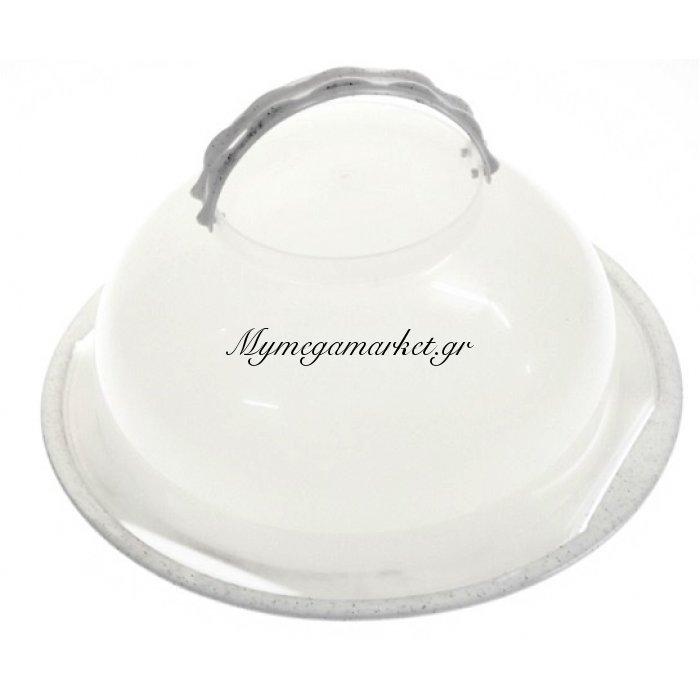 Τουρτιέρα πλαστική με χερούλια σε λευκό γρανίτη χρώμα | Mymegamarket.gr