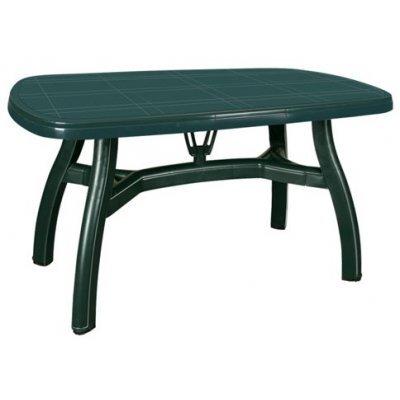 Τραπέζι πλαστικό King με υποδοχή ομπρέλας σε πράσινο χρώμα 80 x 125 cm 0124 - Nektar Plast