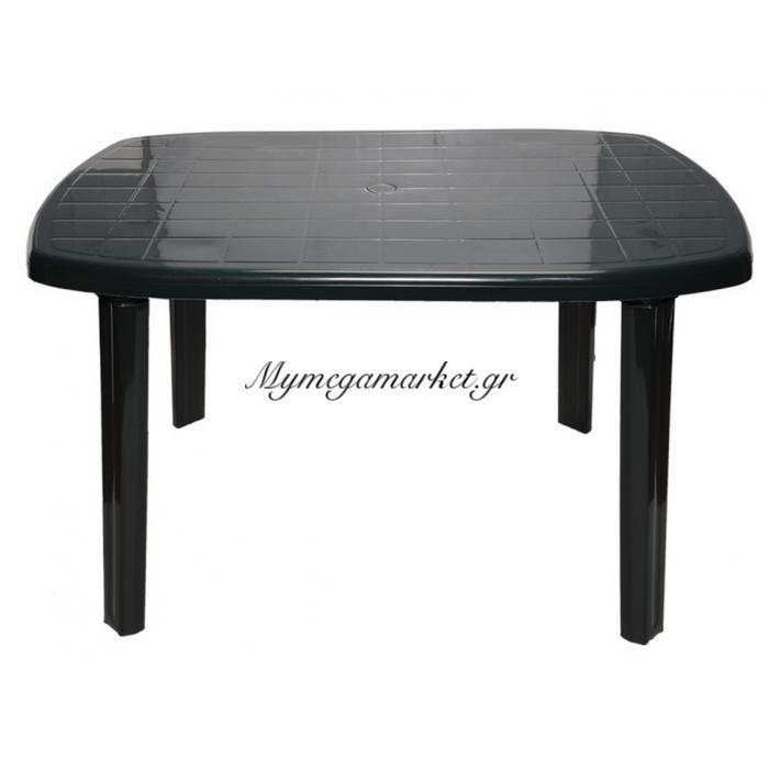 Τραπέζι πλαστικό παραλληλόγραμμο με υποδοχή ομπρέλας σε πράσινο χρώμα 125 x 85cm 0126 - Nektar Plast | Mymegamarket.gr