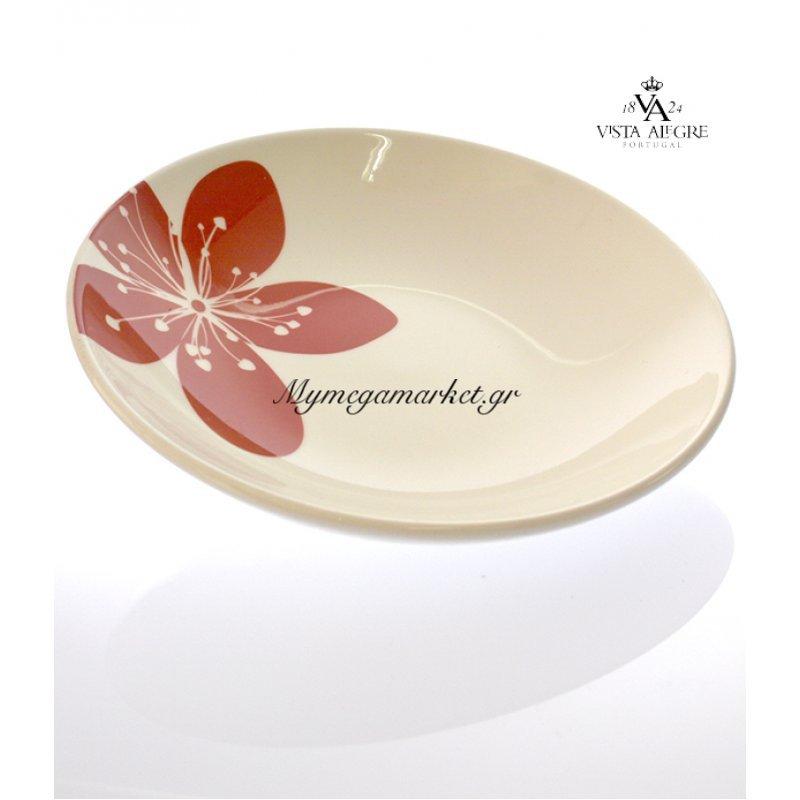 Πιάτο βαθύ Settia red-Vista alegre/τεμ. by Mymegamarket.gr