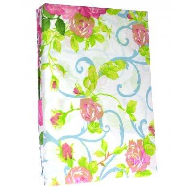 Σέτ 2 σεντόνια + 2 μαξιλαροθήκες - υπέρδιπλα - Λευκό με τριαντάφυλλα