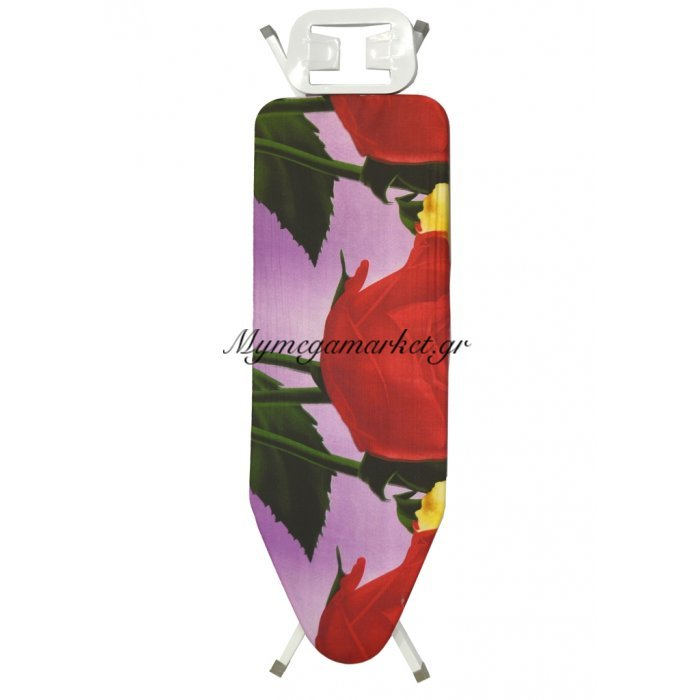 Σιδερώστρα ατμού - μώβ σιδερόπανο με κόκκινο τριαντάφυλλο - IBORD/4815 - Tns | Mymegamarket.gr