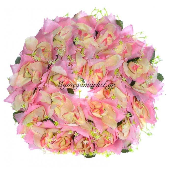 Στεφάνι με τριαντάφυλλα σε ρόζ απαλό | Mymegamarket.gr