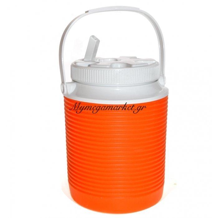Θερμό - Water Cool με βρυσάκι + στόμιο - 2 λίτρων - Πορτοκαλί | Mymegamarket.gr