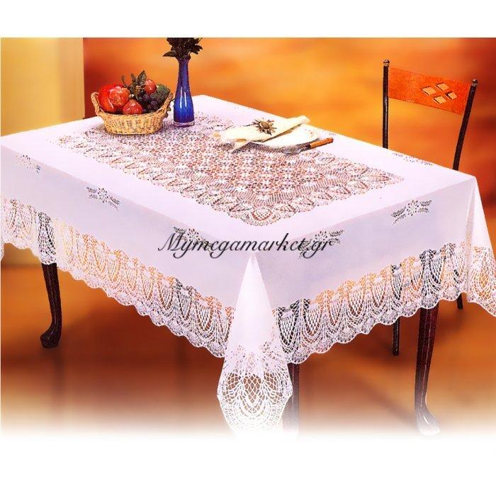 Τραπεζομάντηλο Crochet - Τετράγωνο - 135 x 135 cm | Mymegamarket.gr
