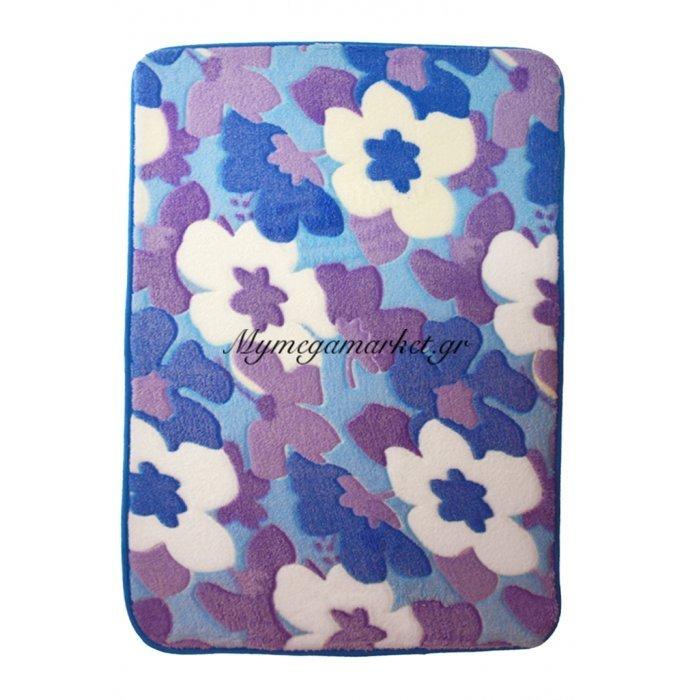 Χαλάκι - Microfiber - Αφροδίτη - Λουλούδια - 45 x 70 cm | Mymegamarket.gr