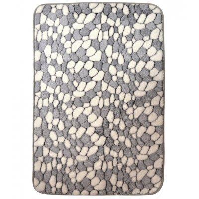 Χαλάκι - Microfiber - Αφροδίτη - Βότσαλο γκρί - 45 x 70 cm