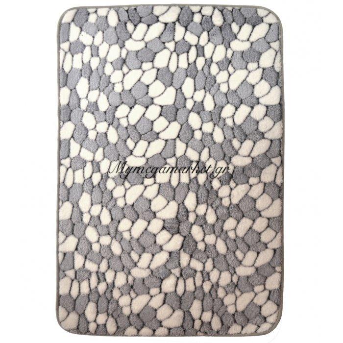 Χαλάκι - Microfiber - Αφροδίτη - Βότσαλο γκρί - 45 x 70 cm | Mymegamarket.gr