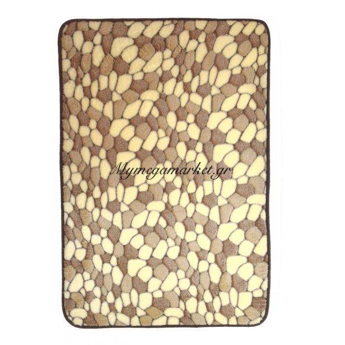 Χαλάκι - Microfiber - Αφροδίτη - Βότσαλο μπέζ - καφέ - 45 x 70 cm | Mymegamarket.gr