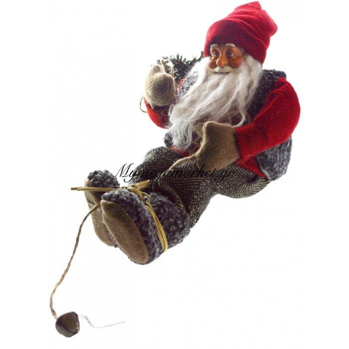 Άγιος Βασίλης κρεμαστός λούτρινος | Mymegamarket.gr