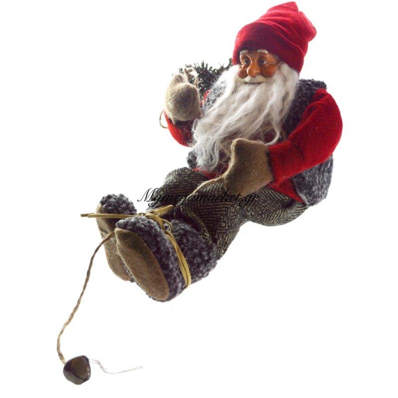 Άγιος Βασίλης κρεμαστός λούτρινος