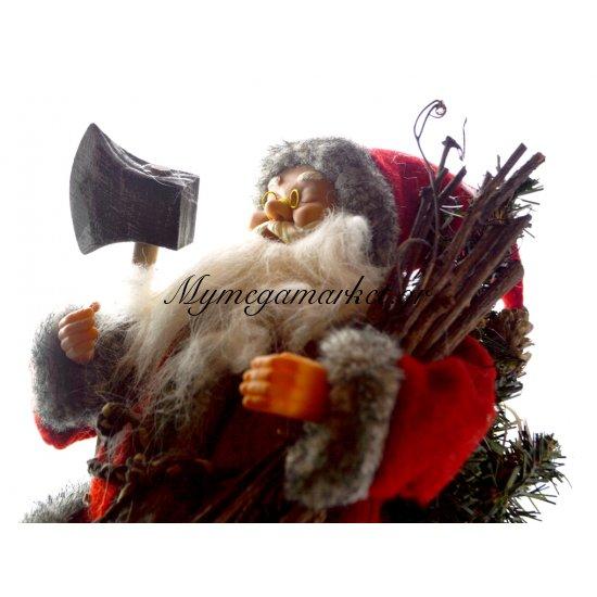 Άγιος Βασίλης με ροχαλητό και κίνηση στο στομάχι εισπνοή εκπνοή Στην κατηγορία Κεραμικά - Λούτρινα Χριστουγεννιάτικα | Mymegamarket.gr