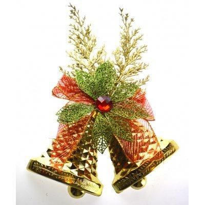 Καμπάνα διπλή χριστουγεννιάτικη κρεμαστή