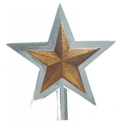 Κορυφή αστέρι απο πλαστικό σε ασημί χρώμα