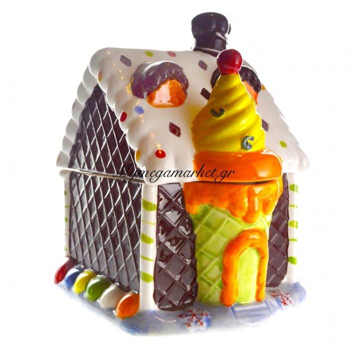 Μπισκοτιέρα σπιτάκι τούρτα από πορσελάνη | Mymegamarket.gr