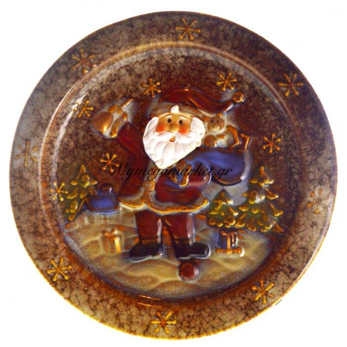 Πιατέλα χριστουγεννιάτικη με Αγ.Βασίλη απο πορσελάνη | Mymegamarket.gr