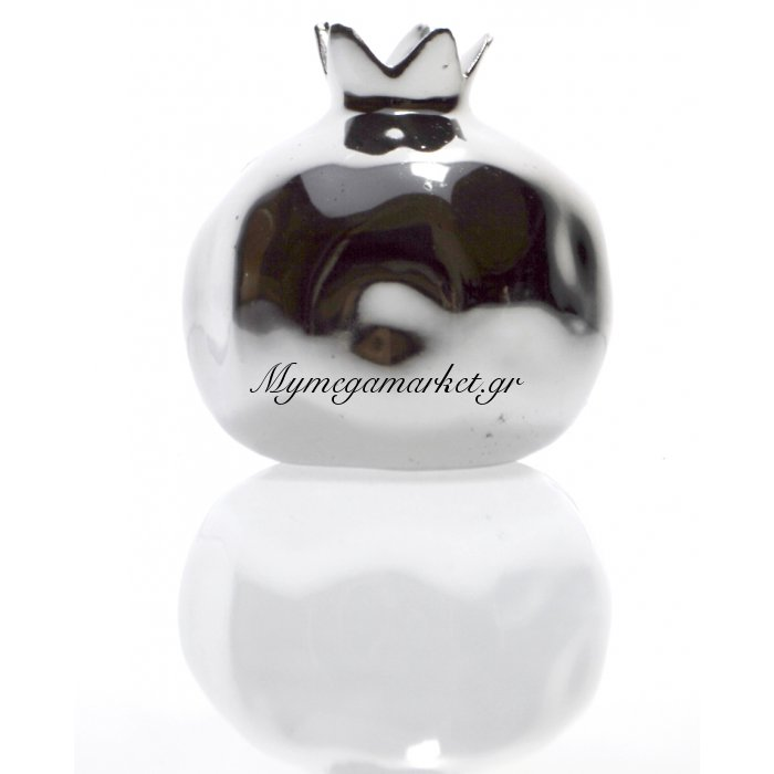 Ρόδι κεραμικό σε ασημί χρώμα | Mymegamarket.gr