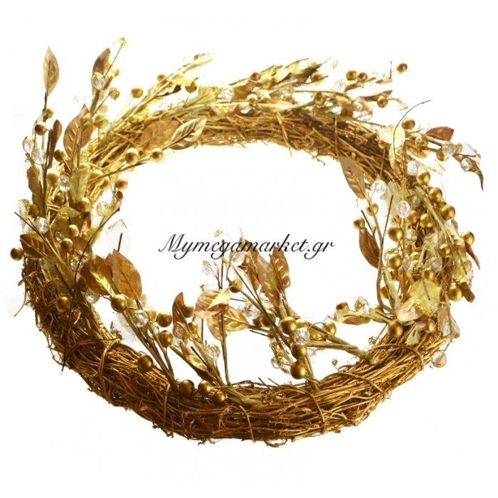 Στεφάνι χρυσό με φύλλα | Mymegamarket.gr